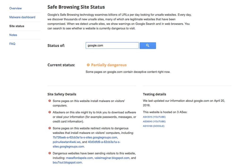Google declares itself 'partially dangerous' 6